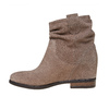 Stivali in pelle da donna bata, grigio, 693-2391 - 19