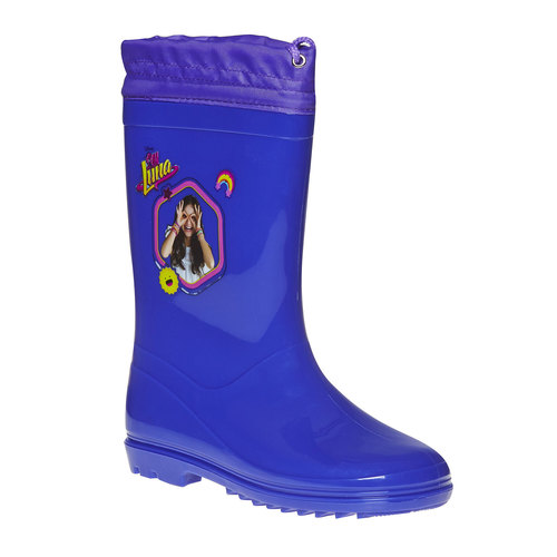 Stivali di gomma da bambina con stampa, blu, 392-9267 - 13