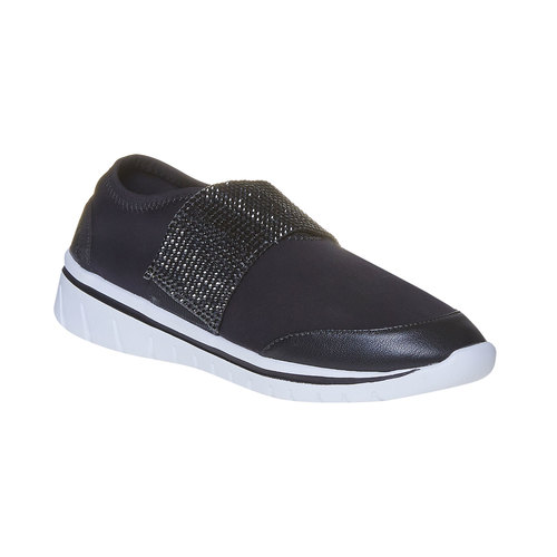 Sneakers da donna con strass north-star, nero, 549-6260 - 13