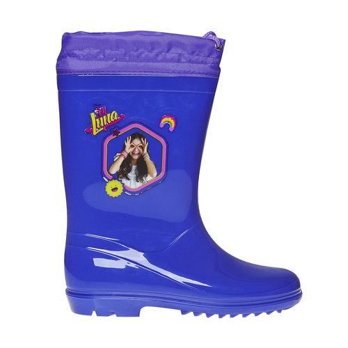 Stivali di gomma da bambina con stampa, blu, 392-9267 - 15