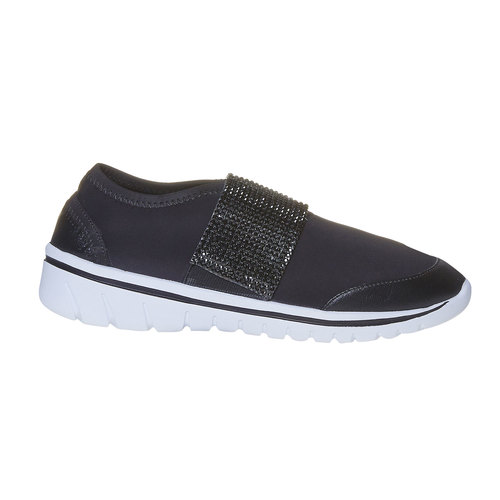 Sneakers da donna con strass north-star, nero, 549-6260 - 15