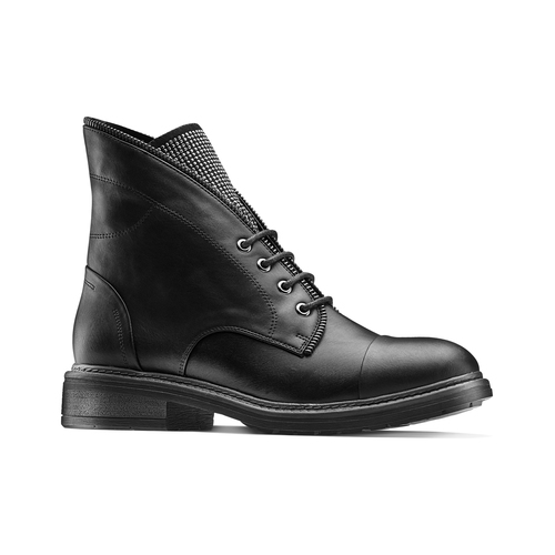 Ankle Boots con lacci bata, nero, 591-6507 - 13