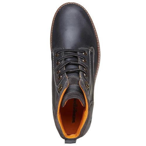Scarpe in pelle alla caviglia weinbrenner, nero, 894-6403 - 19