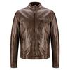 Giacca da uomo in vera pelle bata, marrone, 974-4142 - 13