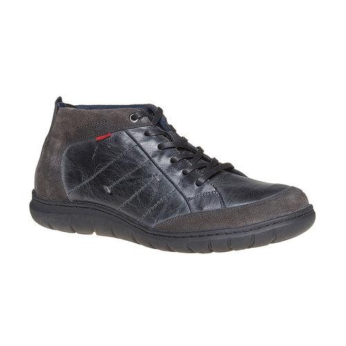 Scarpe di pelle alla caviglia bata, nero, 844-6502 - 13