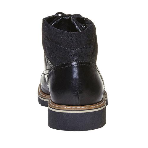 Scarpe di pelle alla caviglia bata, nero, 894-6561 - 17