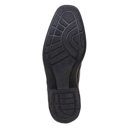Scarpe basse di pelle in stile Derby bata-comfit, nero, 824-6619 - 26