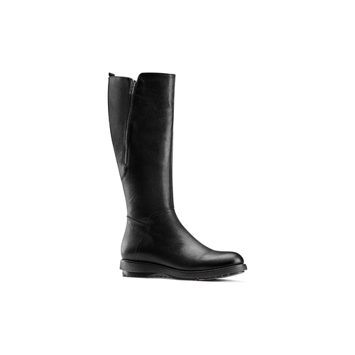 Stivali di pelle con suola flessibile flexible, nero, 594-6651 - 13