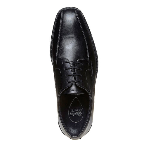 Scarpe basse di pelle in stile Derby bata-comfit, nero, 824-6619 - 19