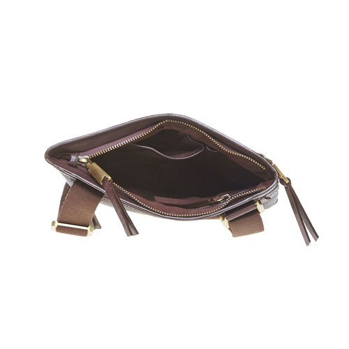 Borsa messenger da uomo in pelle bata, marrone, 964-4137 - 15