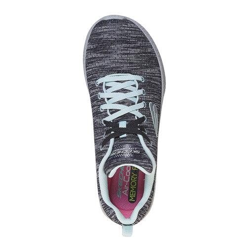 Sneakers con motivo striato skechers, nero, 509-6354 - 19