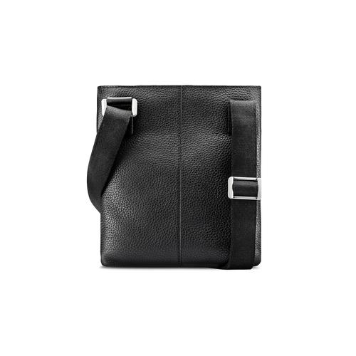 Tracolla in pelle con zip bata, nero, 964-6131 - 26