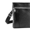 Tracolla in pelle con zip bata, nero, 964-6131 - 15
