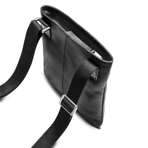 Tracolla in pelle con zip bata, nero, 964-6131 - 17