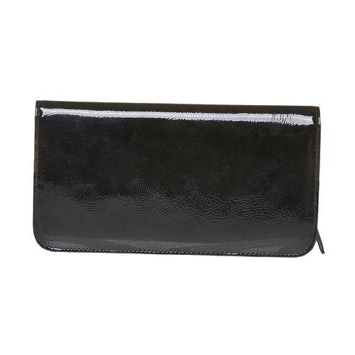 Portafoglio verniciato da donna bata, nero, 941-6144 - 26