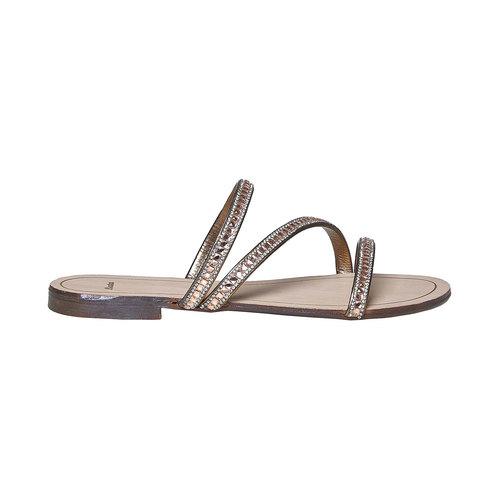Sandali da donna con strass bata, oro, 571-8169 - 15
