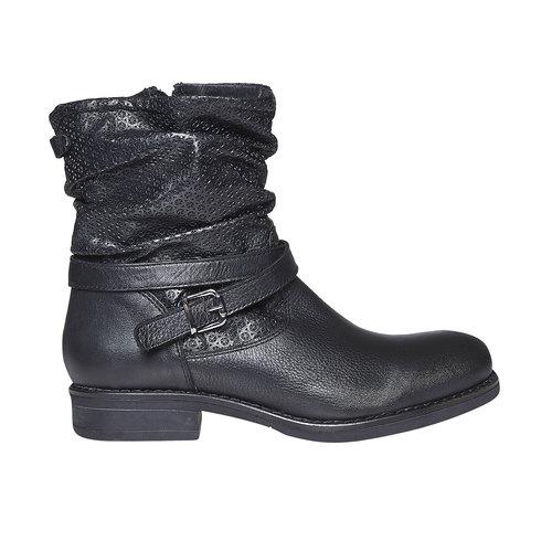 Stivali in pelle da donna bata, nero, 594-6138 - 15