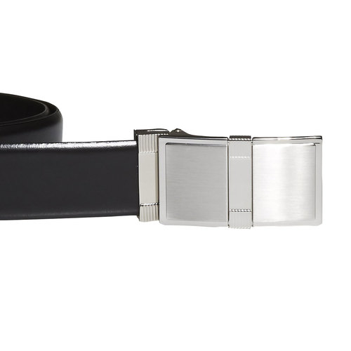 Cintura da uomo in pelle bata, nero, 954-6140 - 26