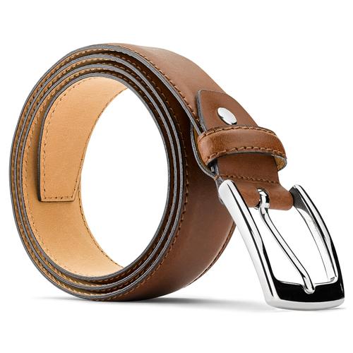 Cintura in pelle da uomo bata, marrone, 954-3170 - 26
