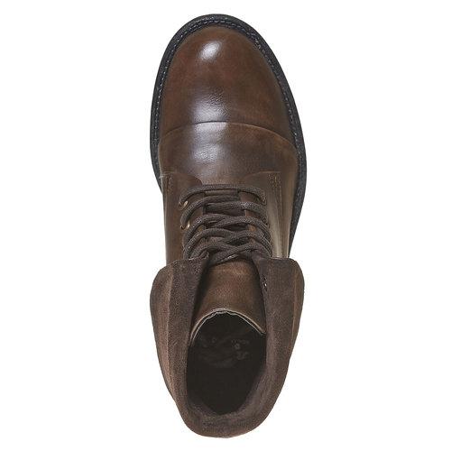 Scarpe da donna alla caviglia in pelle bata, marrone, 594-4450 - 19
