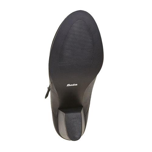 Stivaletti alla caviglia con perforazioni bata, nero, 791-6627 - 26