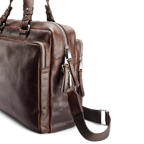 Borsa da ufficio in vera pelle bata, marrone, 964-4106 - 15