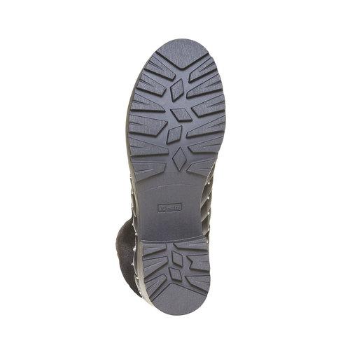 Scarpe da donna alla caviglia con cuciture bata, nero, 691-6400 - 26