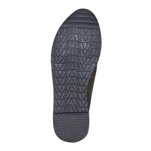 Sneakers da donna con struttura north-star, nero, 531-6121 - 26