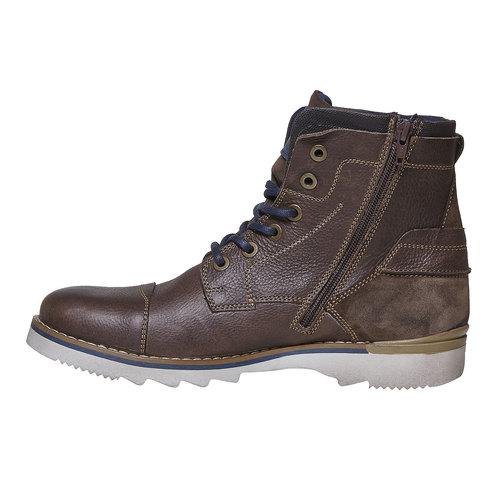 Scarpe da uomo alla caviglia, marrone, 894-4689 - 18