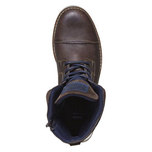 Scarpe da uomo alla caviglia, marrone, 894-4689 - 19