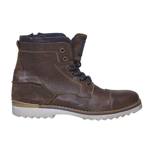Scarpe da uomo alla caviglia, marrone, 894-4689 - 15