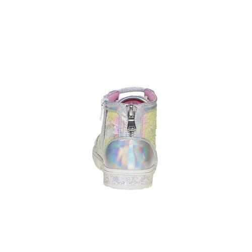 Sneakers da bambina alla caviglia mini-b, bianco, 329-1260 - 17