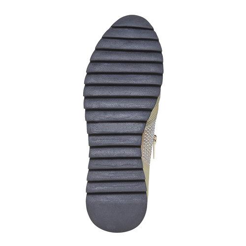Sneakers da donna con suola appariscente north-star, oro, 539-8127 - 26