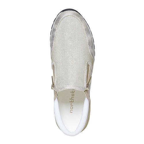 Sneakers da donna con suola appariscente north-star, oro, 539-8127 - 19