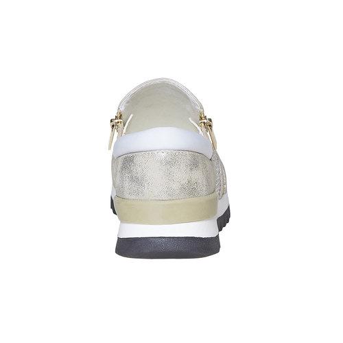 Sneakers da donna con suola appariscente north-star, oro, 539-8127 - 17