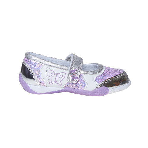 Scarpe da ragazza con glitter mini-b, grigio, 221-2186 - 15