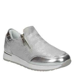 Sneakers argentate da bambina con cerniere, 321-2255 - 13