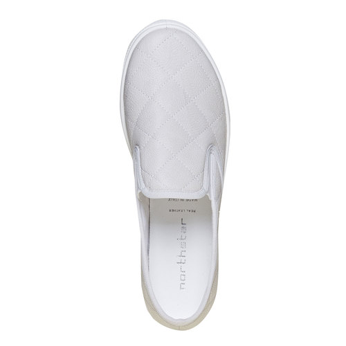 Slip-on trapuntate da donna north-star, bianco, 531-1125 - 19