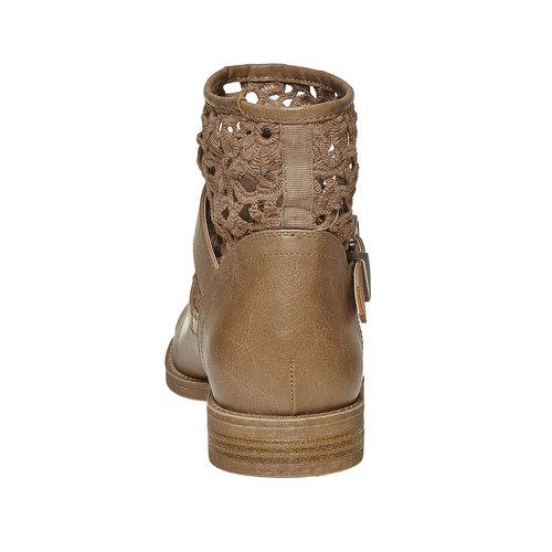 Stivaletti alla caviglia con pizzo bata, beige, 591-2110 - 17
