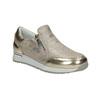 Sneakers dorate da bambina con cerniere, 321-8255 - 13