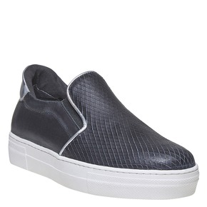 Scarpe in pelle in stile Slip-on north-star, nero, 514-6265 - 13