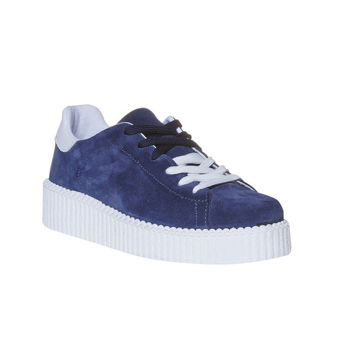 Sneakers da donna in pelle Creepers, viola, 523-9476 - 13