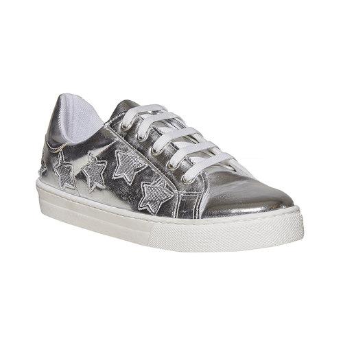 Sneakers metallizzate da donna north-star, bianco, 541-1271 - 13