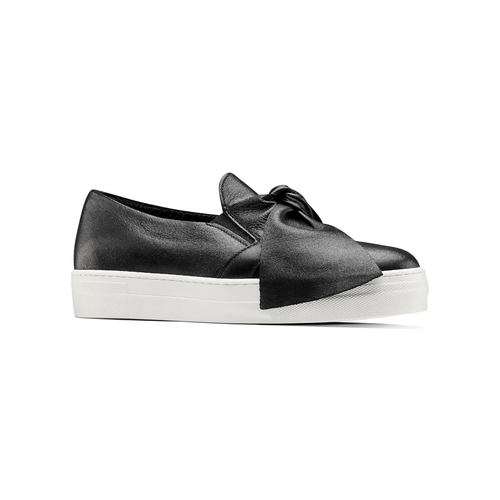 Sneakers in pelle con fiocco north-star, nero, 514-6264 - 13