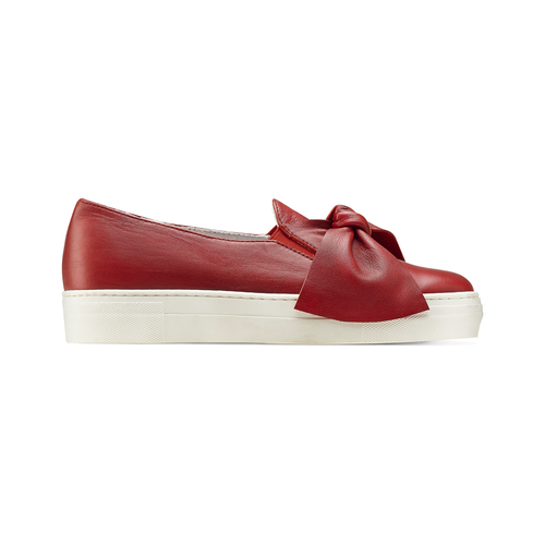 Slip on in pelle rosse north-star, rosso, 514-5264 - 26