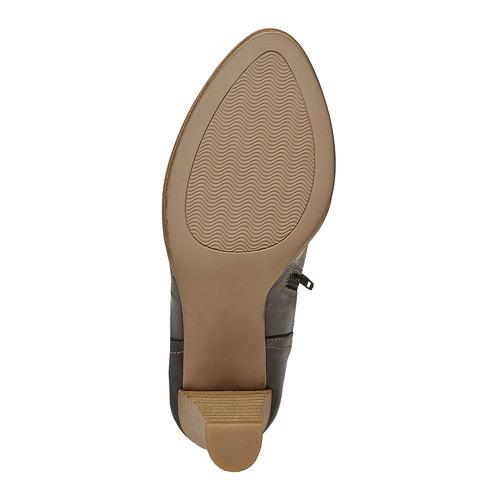 Stivaletti in pelle alla caviglia bata, nero, 724-6556 - 26