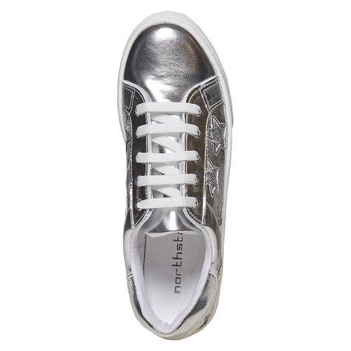 Sneakers metallizzate da donna north-star, bianco, 541-1271 - 19