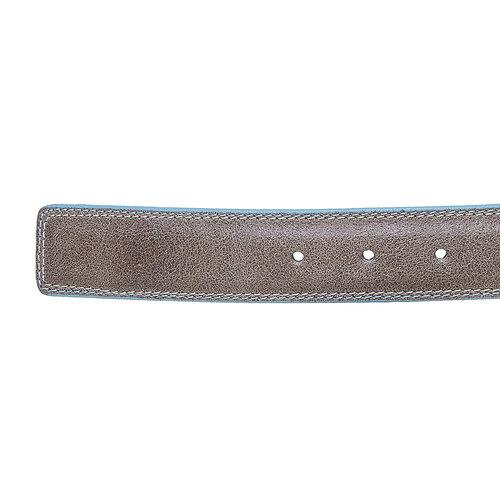 Cintura in pelle con orlo blu bata, giallo, 954-8228 - 16