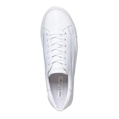 Sneakers da uomo in pelle bata, bianco, 844-1687 - 19