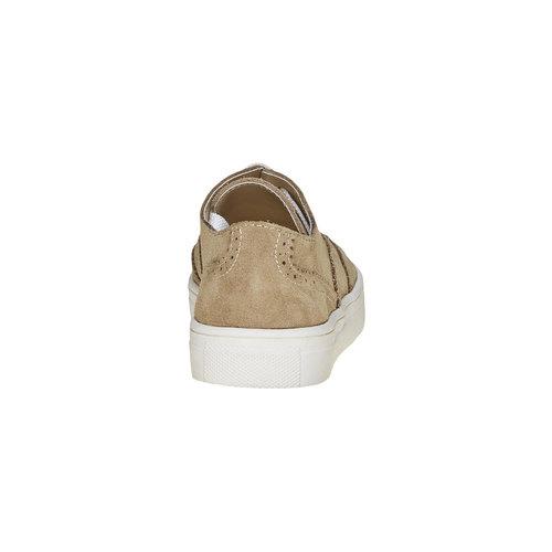 Sneakers da bambino di pelle, marrone, 313-3256 - 17